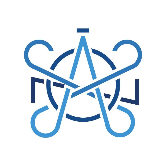 Logotipo Fondo Blanco Monograma Axón Digital