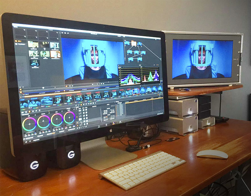 Equipo de post producción y edición de video