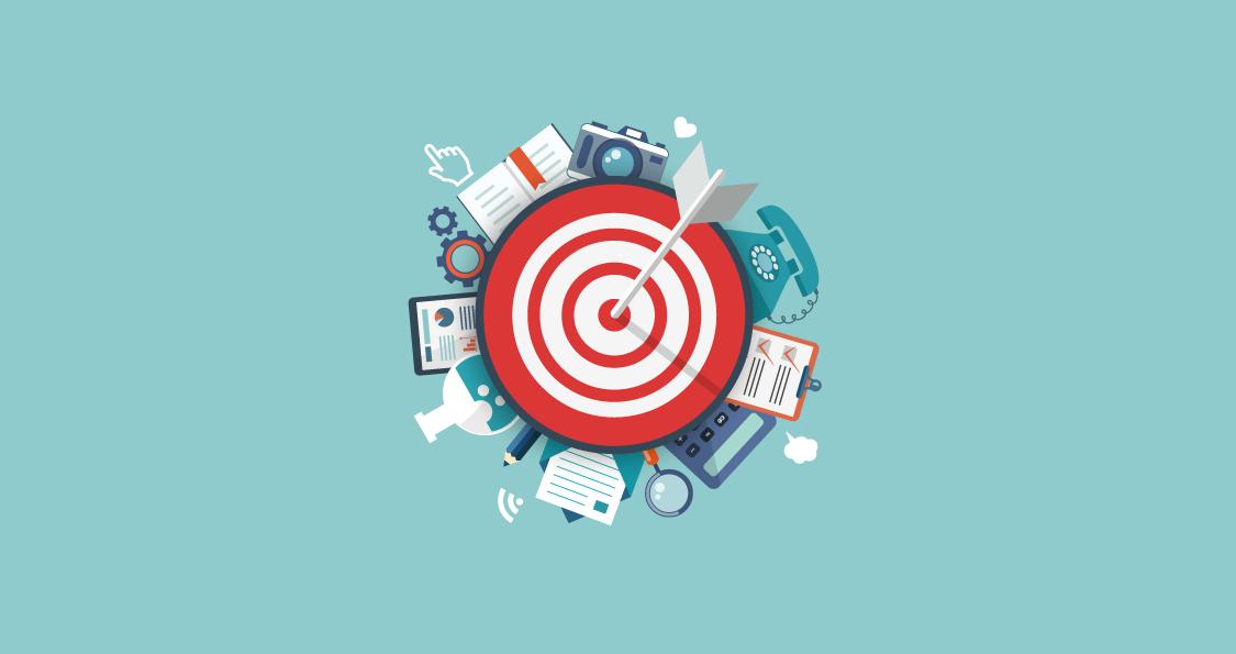 Ilustración de público objetivo o target