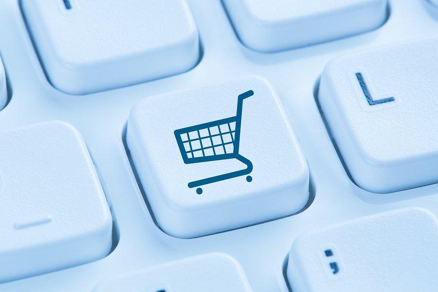 Teclado con ícono E-Commerce