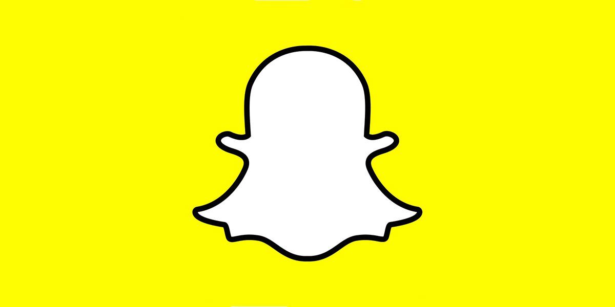 Banner con logotipo de snapchat