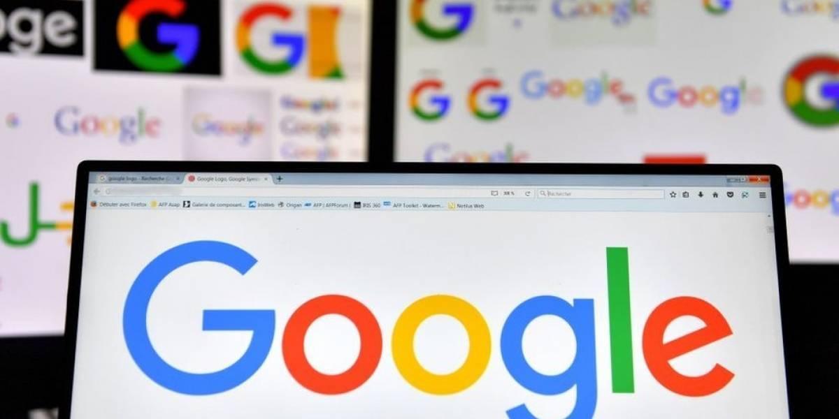 Buscador de Google en pantalla