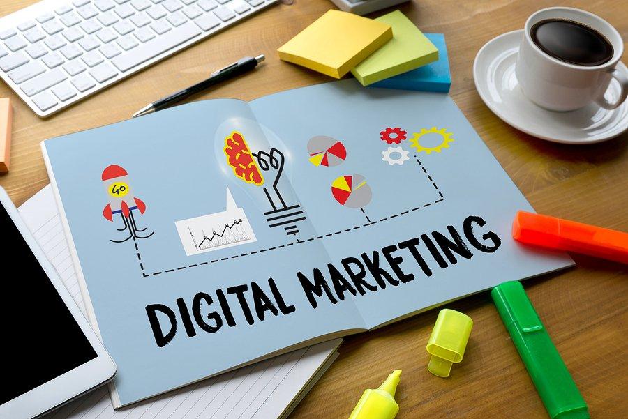 Letrero de Marketing Digital