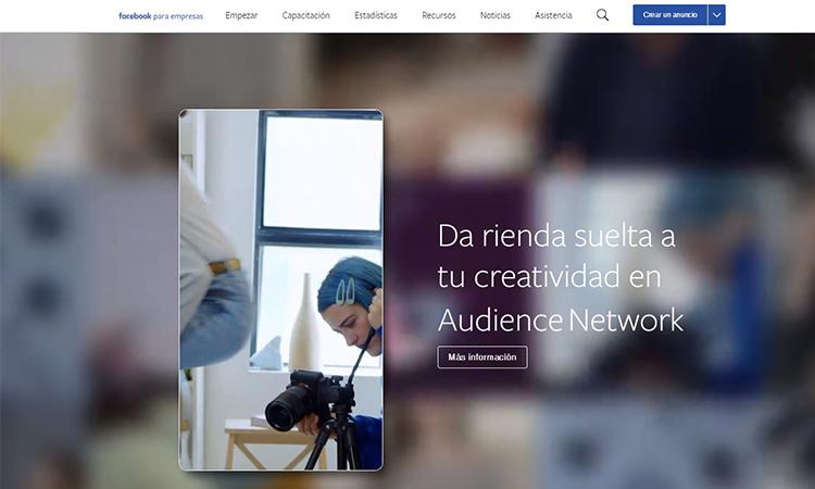 Anuncio Audience Network de Facebook