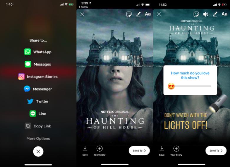 Compartir contenido de Netflix en Historias de Instagram