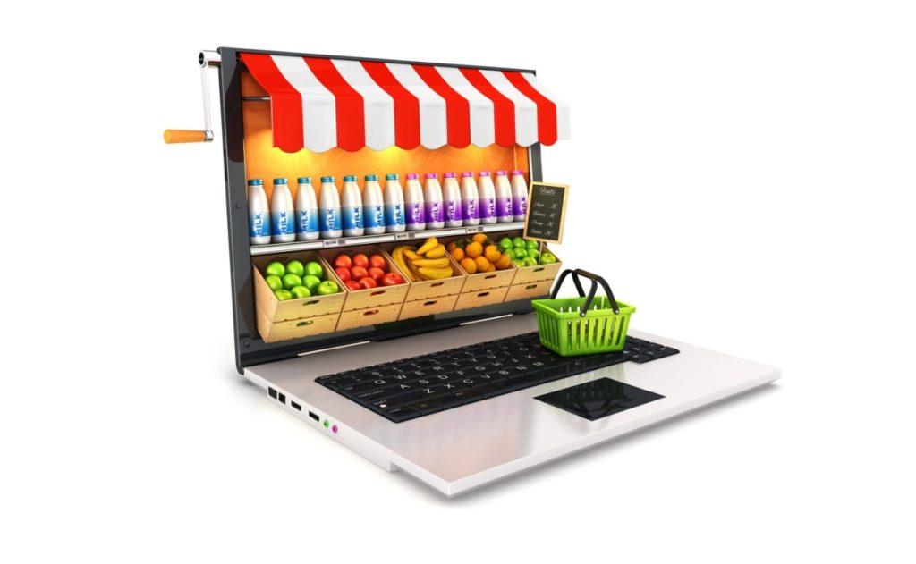Tienda online en laptop