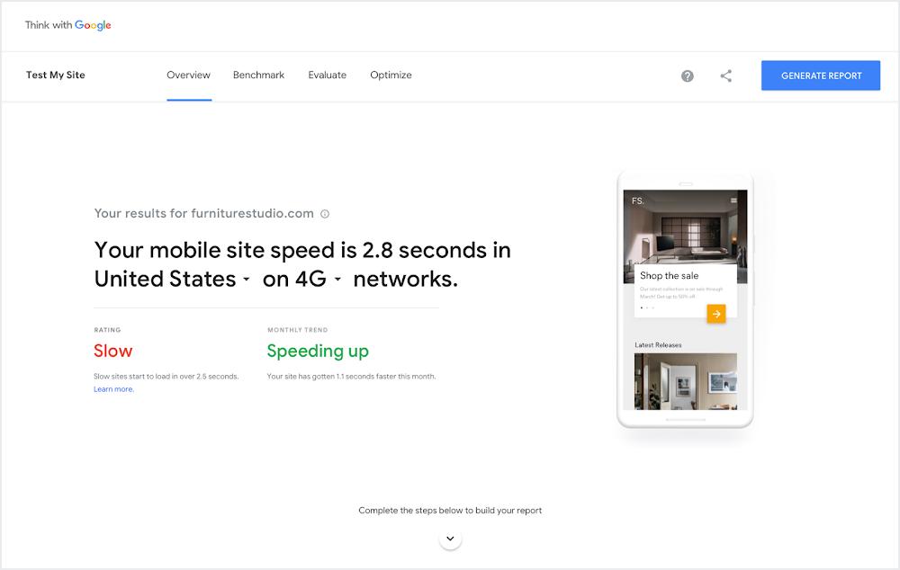 Google rediseña Test my site