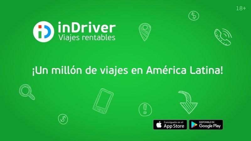 Aplicación móvil InDriver llega a América Latina