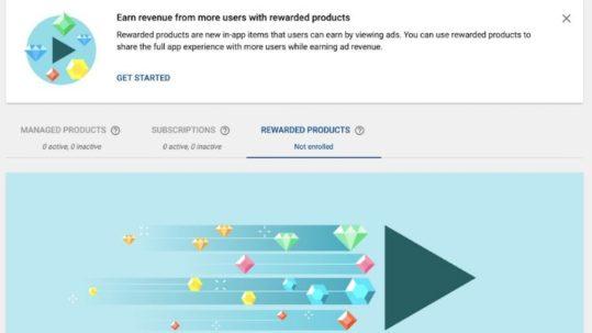 Rewarded products de Google desarrolladores